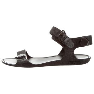 Black Givenchy Rubber Sandals